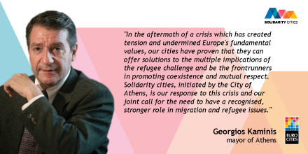 Solidarity Cities Quote Banner Georgios Kaminis