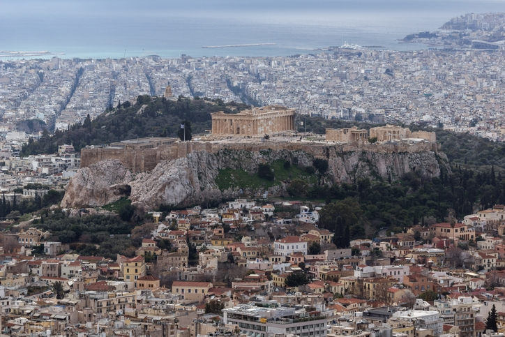 GettyImages Panorama of the city of Athens from Lycabettus hill Attica Greece stock photo