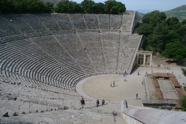 Greece Epidauros ancient theatre