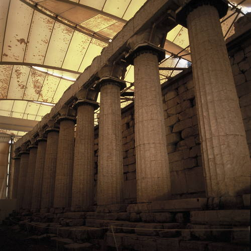Temple of Apollo Epicurius at Bassae Author Yvon Fruneau CopyrightUNESCO